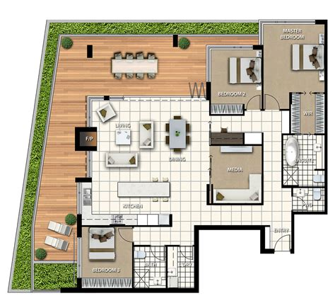 sample floor plan with dimensions