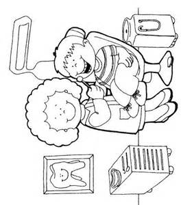 dentist coloring pages free coloring pages of at the dentist