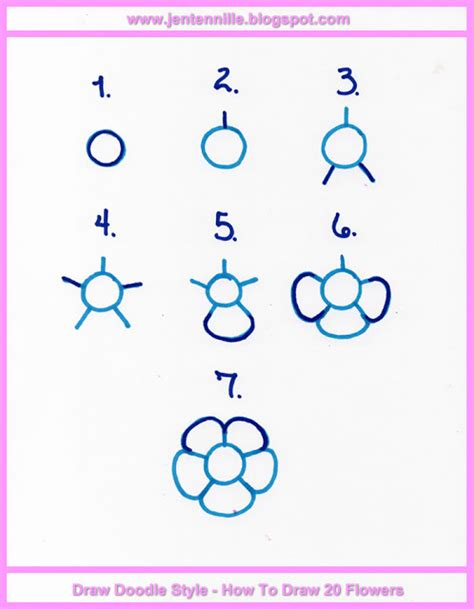 how to use doodle tutorial jen tennille s draw doodle style doodle flower