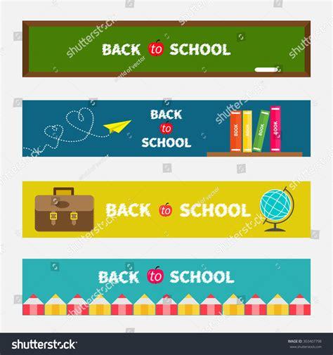 Back To School Origami - back to school banner set green board world globe book