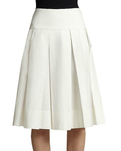 box pleated skirt with yoke elizabeth s custom skirts