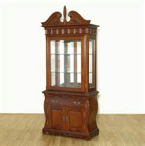 Display Hutch vintage mahogany lighted curio hutch display showcase china cabinet ebay