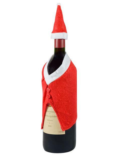 novelty christmas wine bottle cover decorations and fancy