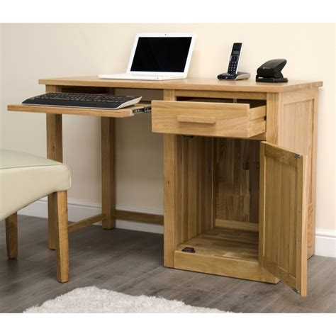 Small Workstation Desk Arden Small Office Pc Computer Desk Solid Oak Furniture With Keyboard Drawer
