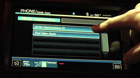 ford sync navigation not working ford sync applink voice mobile apps