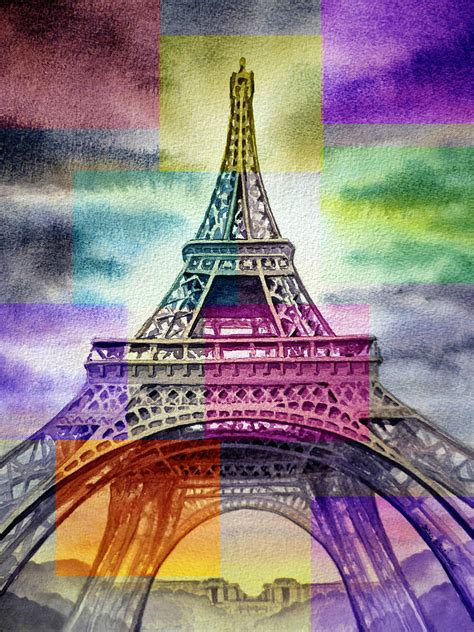 100 paint color eiffel tower eiffel tower painting stock images royalty free images u0026
