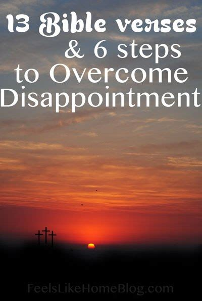 comfort in disappointment or misery 13 bible verses to overcome disappointment