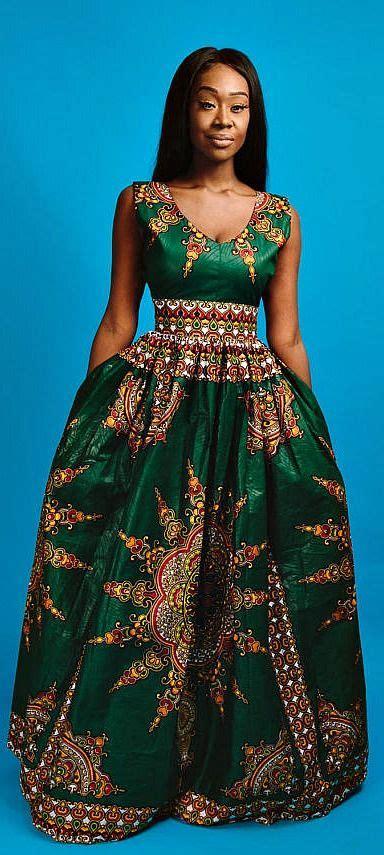 beautiful chitenge dresses the victoria maxi green v neck african print maxi dress