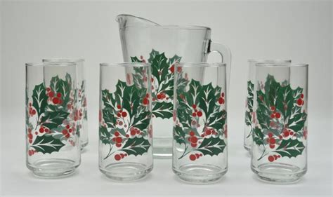 Crisa Beverage Set crisa vintage seven beverage set pattern six glasses pitcher