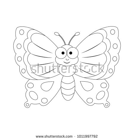 butterfly coloring page education com cartoon monarch butterfly stock images royalty free