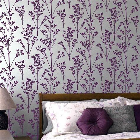 sprigs allover stencil pattern floral wall patterns