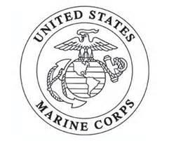 marines symbol colouri sketch template