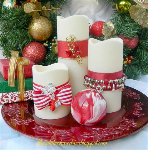 diy christmas jewelry for candles life on lakeshore drive
