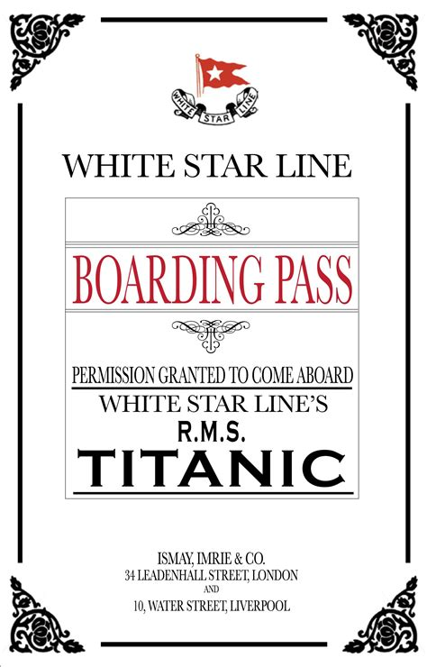 printable titanic boarding pass template titanic dinner invitations and awards yup you read