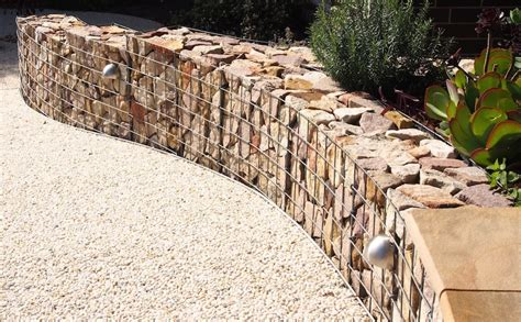 Curved Garden Wall How To Build A Curved Gabion Wall Gardendrum