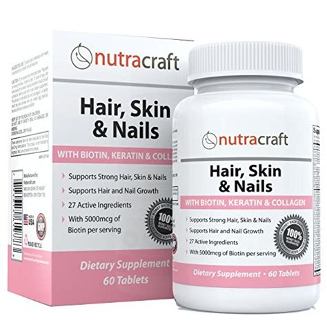 hair and nail supplement 1 hair skin nails supplement with 5000mcg of biotin