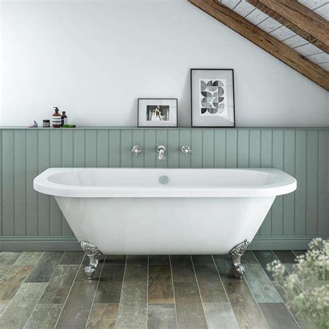 biggest bathroom admiral 1685 back to wall roll top bath at victorian plumbing co uk