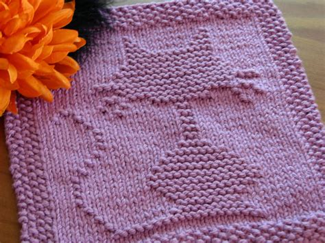 free knit dishcloth patterns one crafty cat dishcloth
