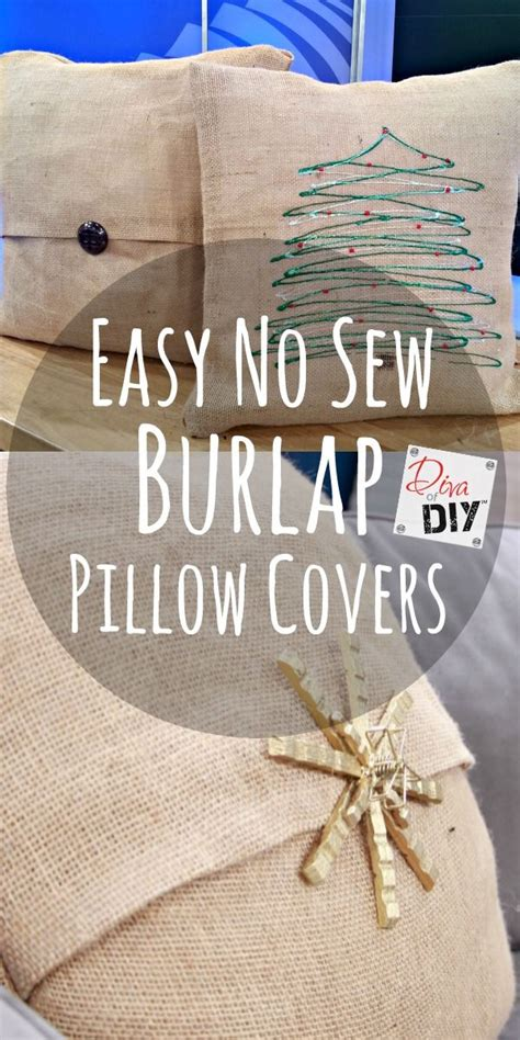 No Sew Burlap Pillow by 17 Best Ideas About Burlap Pillows On Shabby