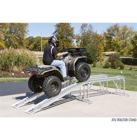 aluminum atv lawn tractor stand  lb capacity