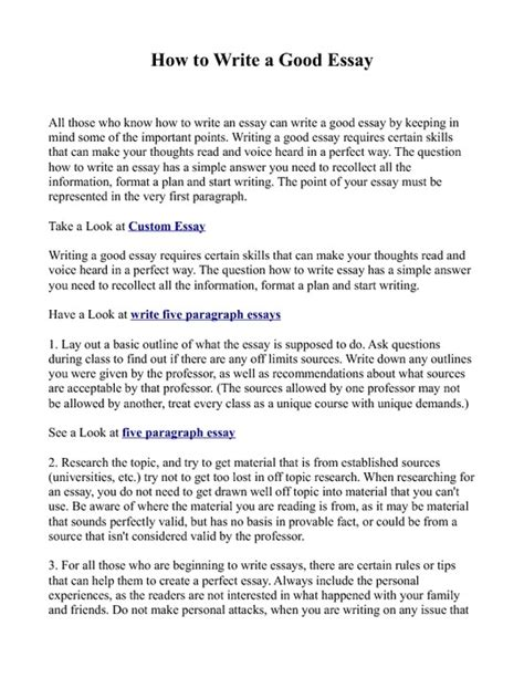 what to write a paper on how to write an essay