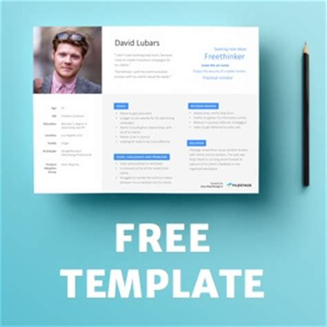 The Advertising Bible Filestage Blog Persona Template Powerpoint