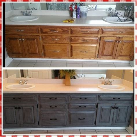 antique grey kitchen cabinets reved my ugly bathroom cabinets