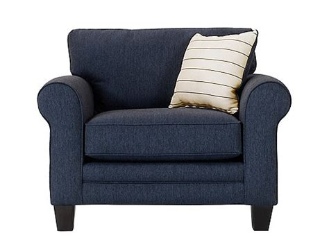 mckinley sofa raymour and mckinley chair and a half navy raymour flanigan