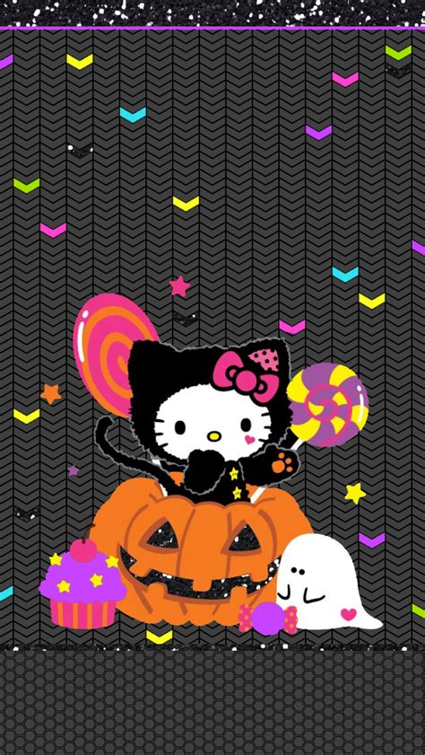wallpaper hello kitty halloween october halloween fall harvest free phone iphone android