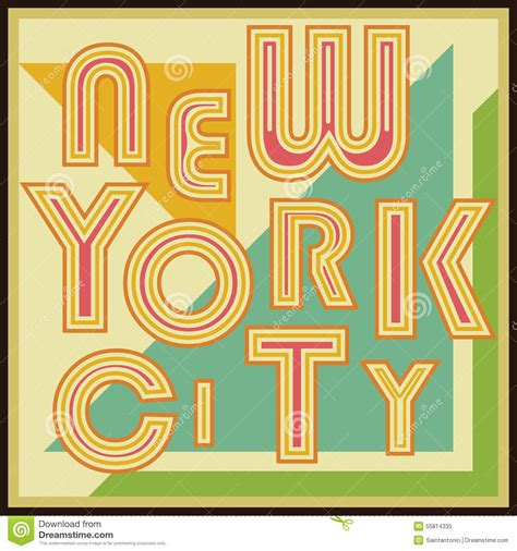 label design nyc new york city retro vintage typography poster t shirt