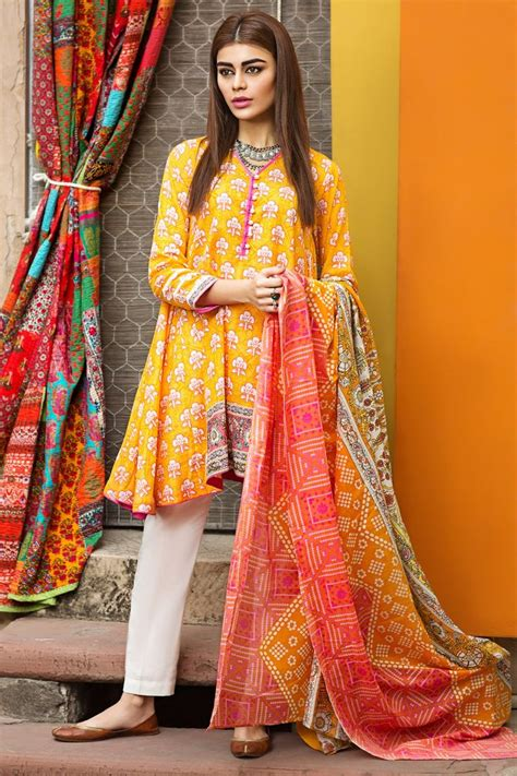 dress design lawn pakistan khaadi lawn latest eid dresses collection 2017