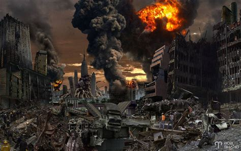 film kiamat zombie destroyed city background wallpapersafari