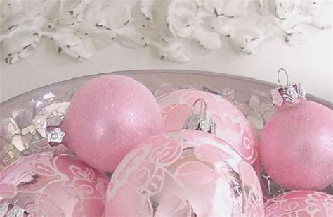 vintage pink ornaments shabby vintage chic pink glass tree ornaments