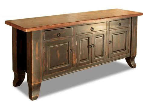 sideboard honey pine black wash farmhouse buffets and