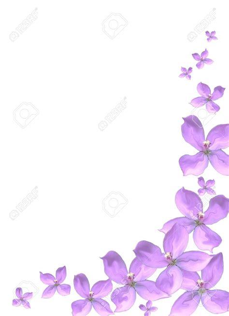 design flower purple purple wedding border clipart 75