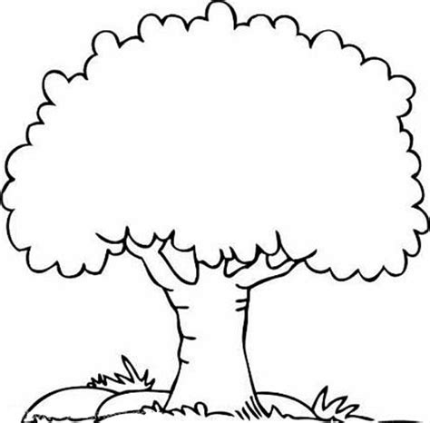 free coloring pages of tree and flowers
