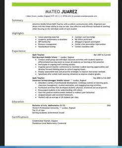 Resume Template For Teachers For Word Resumes Design