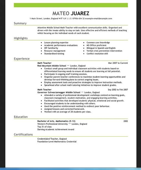 Resume Templates Word For Teachers Resume Template For Teachers For Word Resumes Design