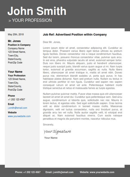 Professional Resume Cover Letter Template by Professional Resume Template Cover Letter Portfolio