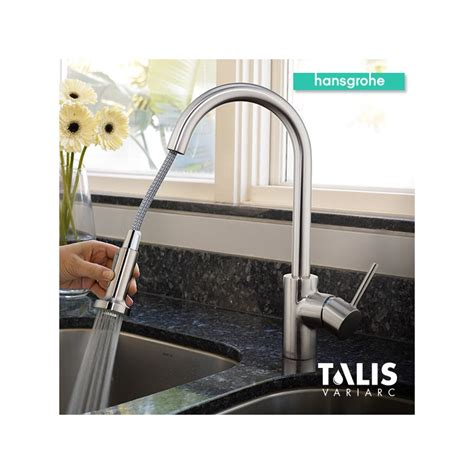 hansgrohe talis s kitchen faucet faucet 06801861 in steel optik by hansgrohe