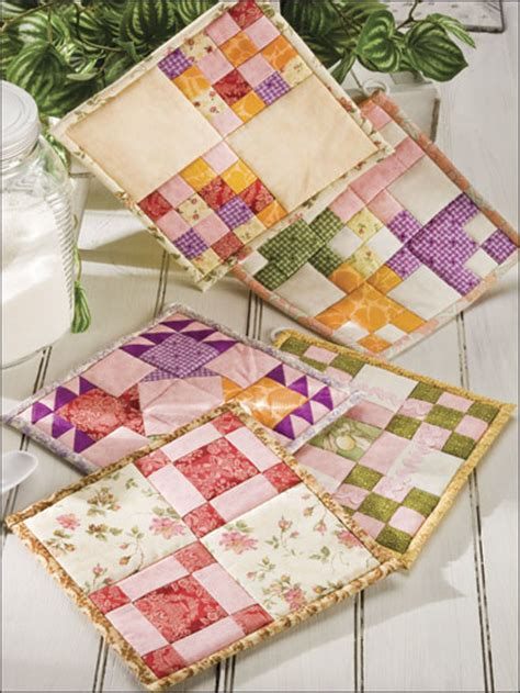 Patchwork Potholder Pattern - potholder patterns fabric crafts