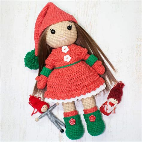 patterns christmas dolls christmas doll crochet pattern amigurumi today