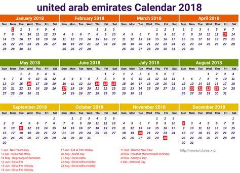 emirates holidays 2018 2018 calendar uae happy new year 2018 info