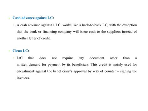Non Advance Letter Letter Of Credit