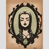 Wednesday Addams Drawing   545 x 726 jpeg 81kB
