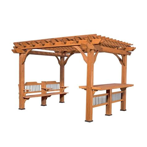 backyard discovery backyard discovery oasis 12 ft x 10 ft pergola 1606517com the home depot