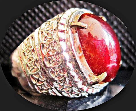Yaman Darah Ring Perak Tebal keyjashop cincin permata yaman darah