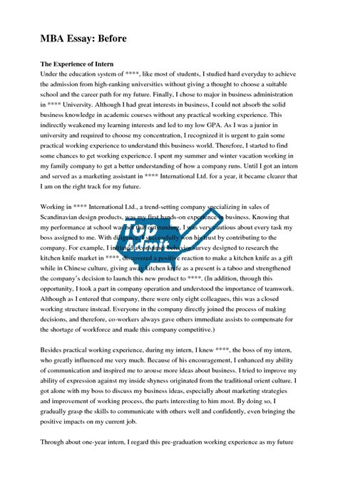 Mba Leadership Essay Sle by Mba Essay Sles 28 Images Executive Mba Essay Sles 28