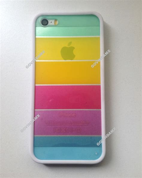 fundas para iphone 4 funda arcoiris acrilico para iphone 4 4s 5 5s 6 y 6