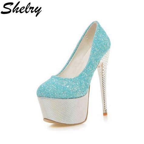 High Heels 16 pumps 2016 new thin high heels 16 cm shoes toe platform cool